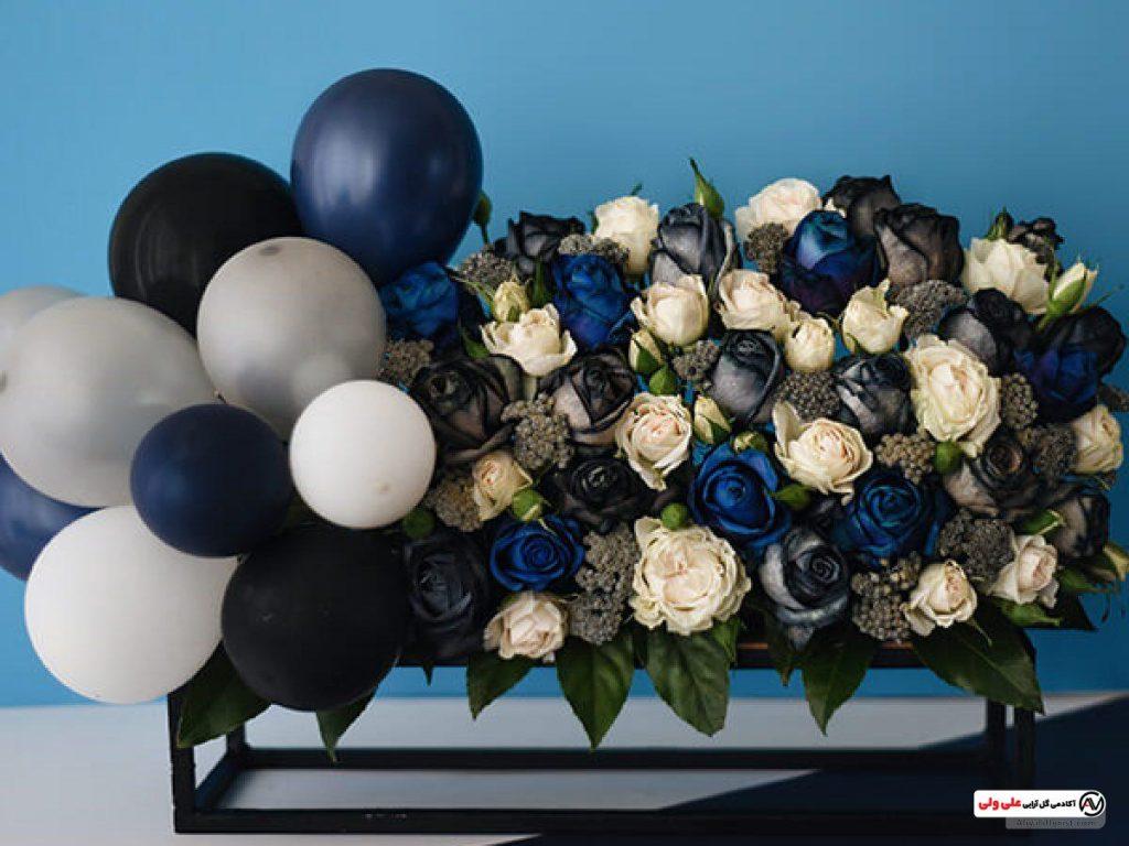 ترکیب گل و بادکنک برای تزیین جشن