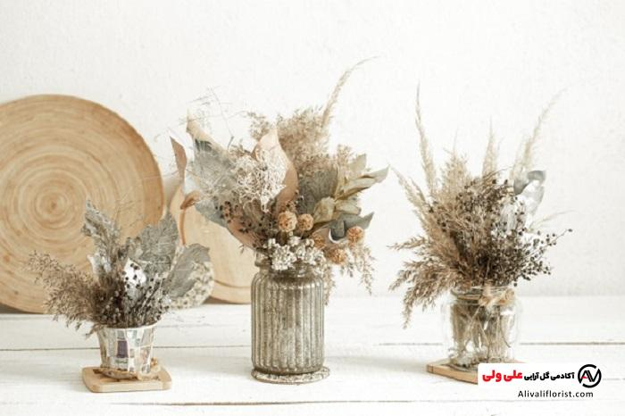 گل خشک در گلدان