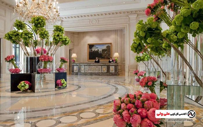 گل آرایی در هتل و رستوران