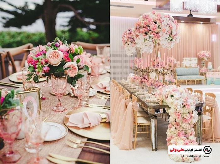 میزآرایی و گل آرایی روی میز