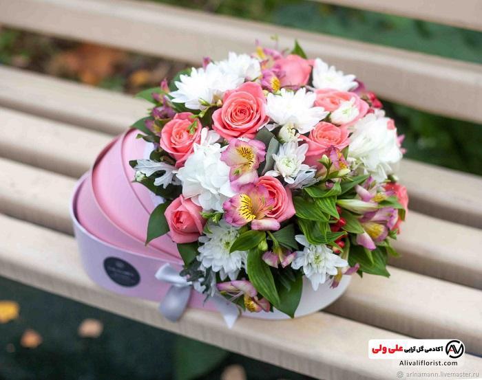باکس گل برای نوزاد دختر