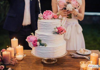 ایده تزیین کیک با گل های طبیعی یا مصنوعی